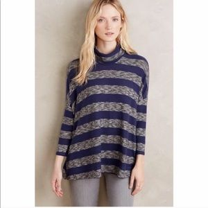Anthro Postmark | Striped Turtleneck Sweater